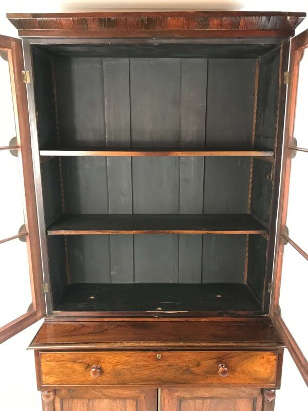 inside view of bookcase