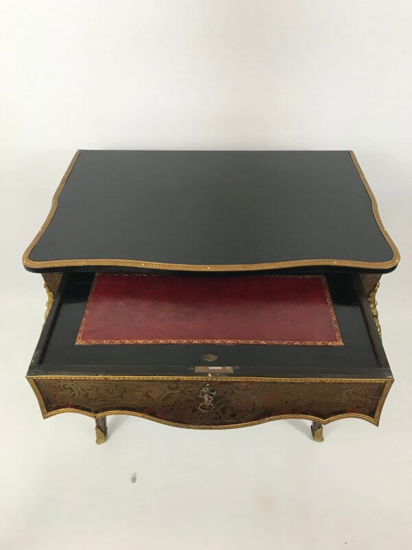 Antique ebonised desk